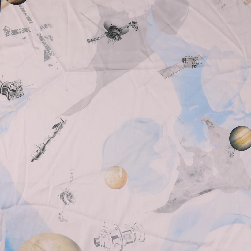行星 期货 梭织 印花 连衣裙 衬衫 短裙 薄 女装 春夏 60621-113