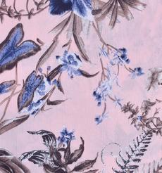 印花 花朵 梭織 人棉皺 現貨 無彈 襯衫 連衣裙 短裙 棉感 薄 70522-18