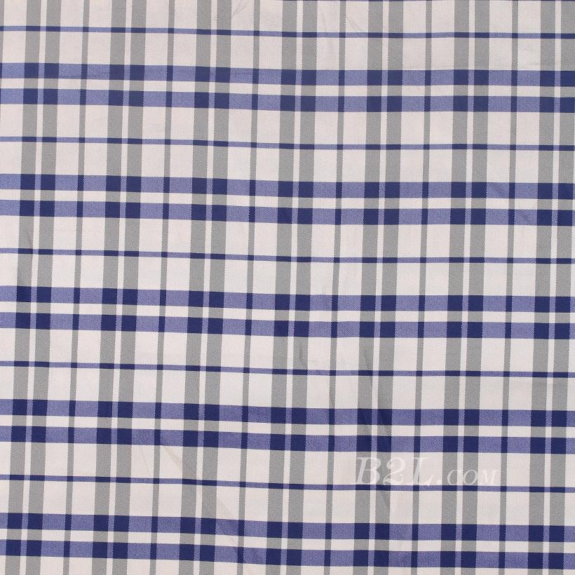 格子 全涤 梭织 色织 无弹 衬衫 外套 连衣裙 短裤 60324-1