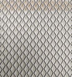 黑白菱形格三明治網眼布料