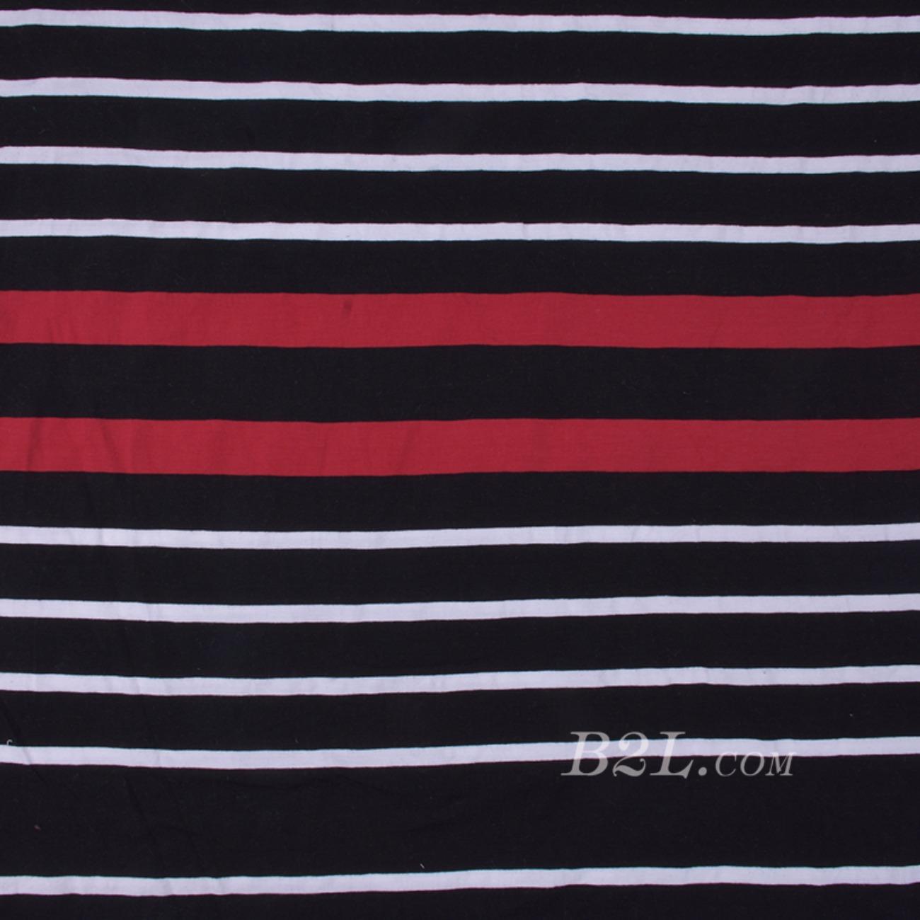 期货 针织 色织 拉架布 单面 条子 循环 高弹 棉感 连衣裙 T恤 女装 80509-8