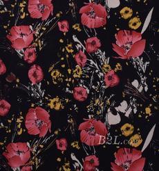 印花 植物 梭織 人棉期貨花朵無彈襯衫連衣裙 短裙 薄 棉感 70531-40