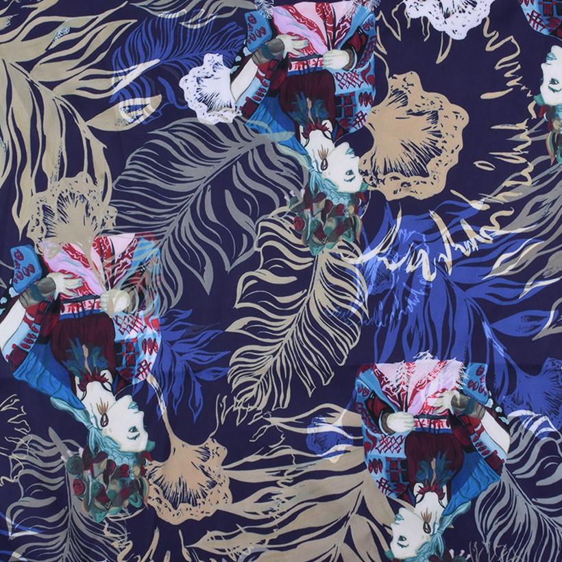 植物 期货 卡通 梭织 印花 连衣裙 衬衫 短裙 薄 女装 春夏 60621-107