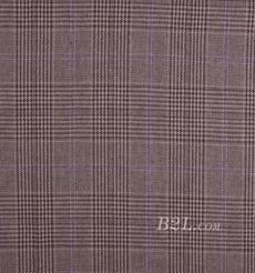 毛纺 格子 提花 色织 全涤 低弹 秋冬 外套 大衣 女装 80724-15