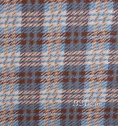 毛纺 格子 羊毛 色织 提花 大衣 外套 女装 80705-6