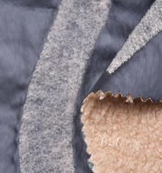 毛纺 皮革 梭织 染色 皮毛一体 几何 厚 秋冬 大衣 棉服 90930-6