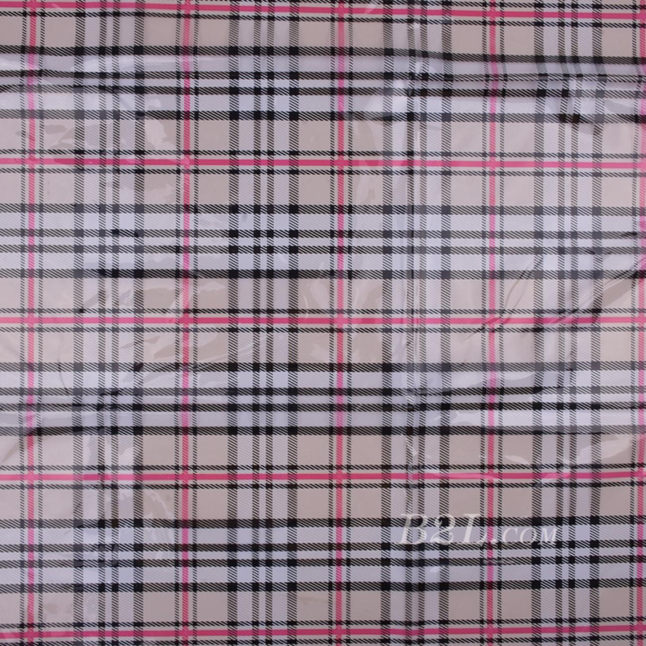 印花 PU  胶 格子 雨衣 外套 包包 80606-3