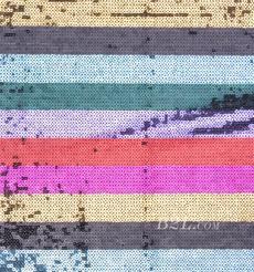期货 珠片 条子 刺绣 七色彩虹条 连衣裙 女装 80815-23
