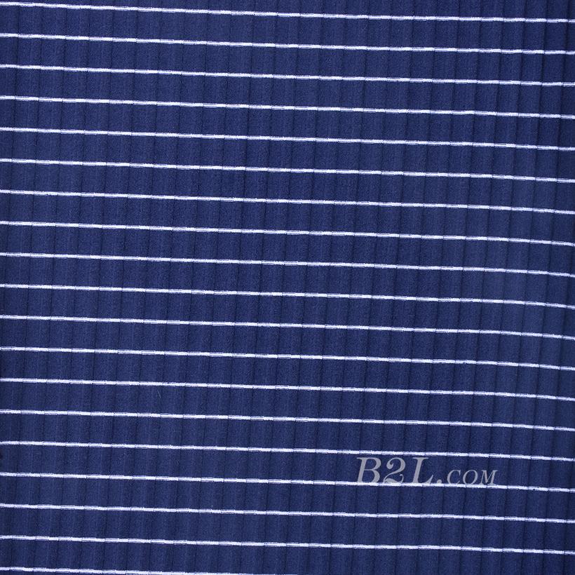 条子 横条 圆机 针织 纬编 T恤 针织衫 连衣裙 棉感 弹力 罗纹 期货 60312-56