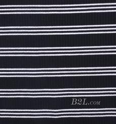 条子 横条 圆机 针织 纬编 棉感 弹力 罗纹 T恤 针织衫 连衣裙 80131-10