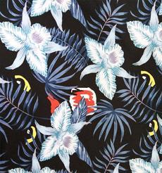 廠家批發白花瓣印花萊卡布料
