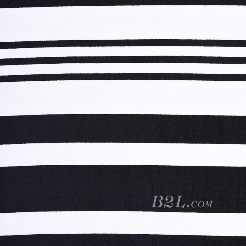 针织染色圆机弹力横条纹罗纹面料-春夏秋针织衫T恤连衣裙面料60312-68
