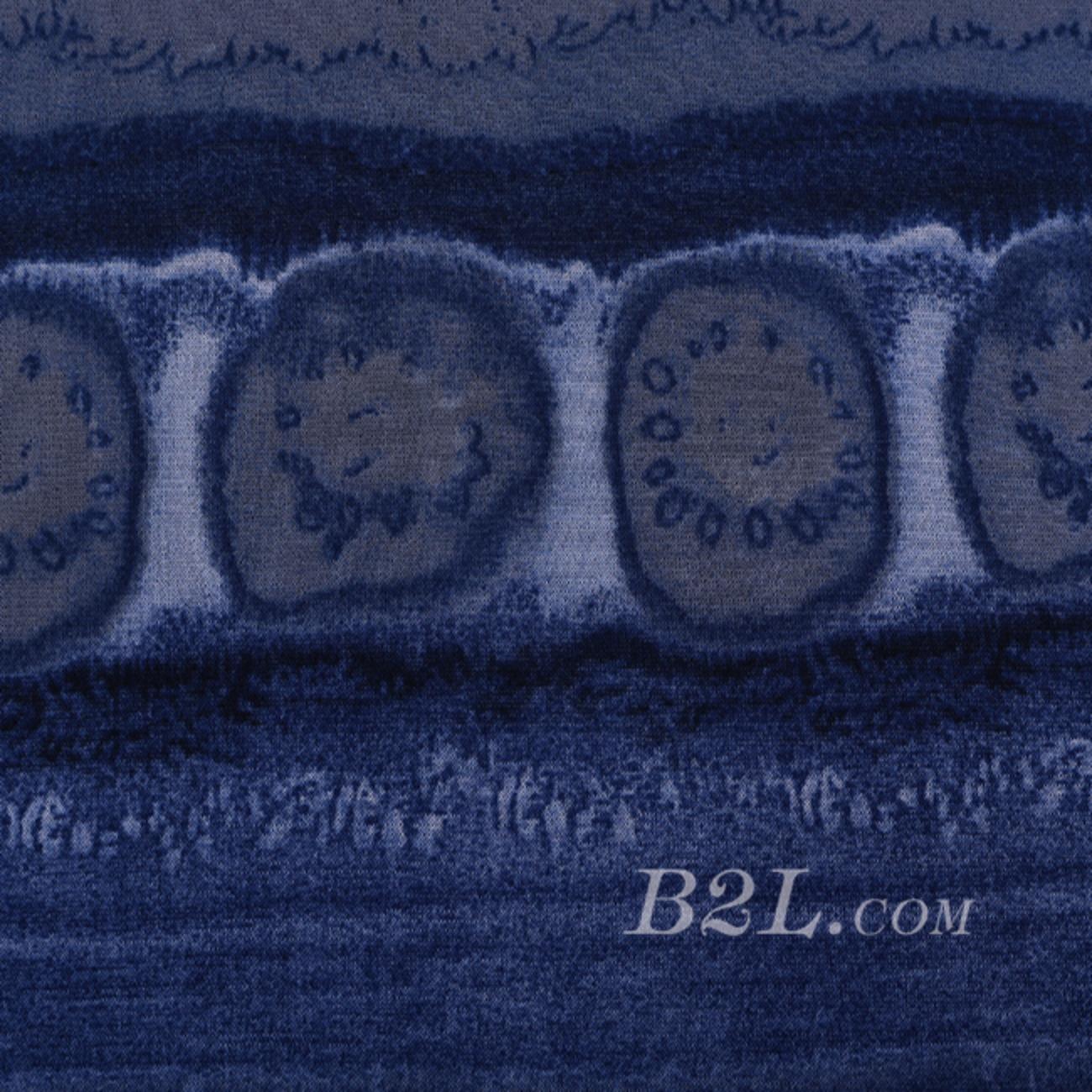 现货 印花 针织 抽象 几何 无弹 薄 春夏 连衣裙 衬衫 童装 女装 60620-28