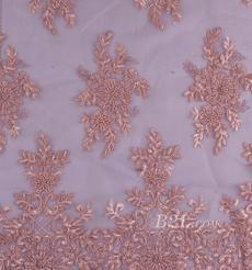 绣花 珠片绣花 花朵 礼服 婚纱 期货经编机 染色 刺绣 手工 低弹 薄 纱感 60916-7