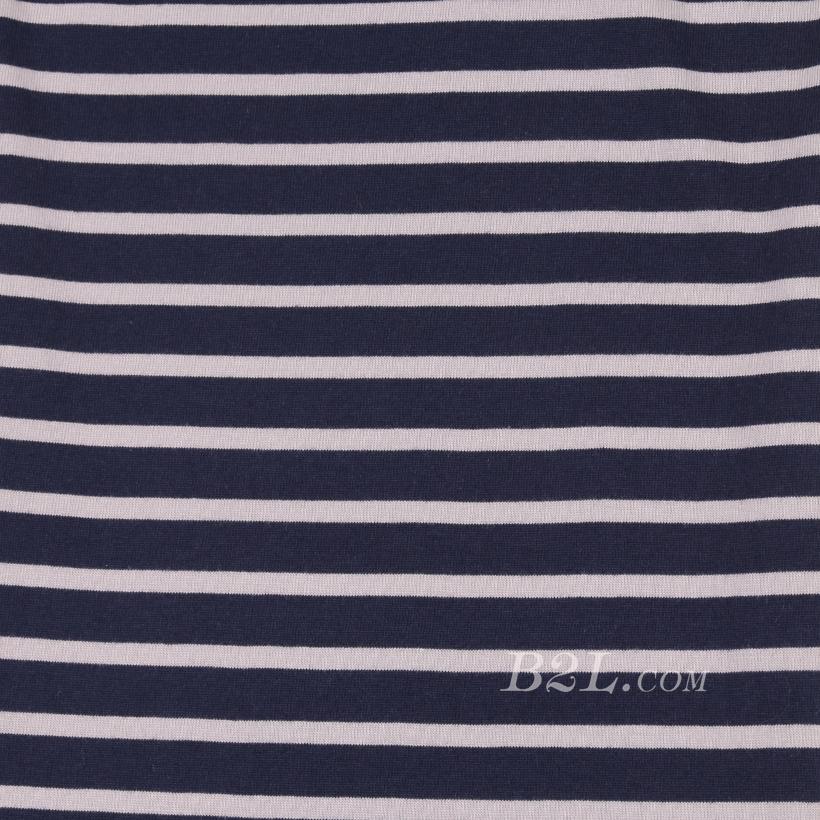 条子 横条 圆机 针织 纬编 T恤 针织衫 连衣裙 棉感 弹力 期货 60312-95