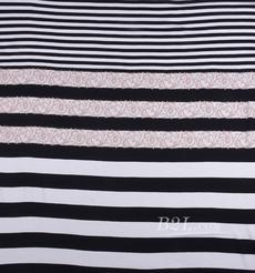 条纹 针织 全人棉 色织 定位 棉感 弹力 春夏秋 连衣裙 女装 80901-32