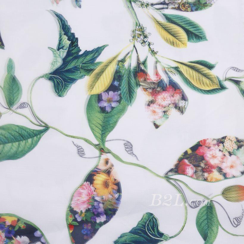 印花 梭织 植物 无弹 纱感 女装 连衣裙 短裙 春夏秋 71125-30
