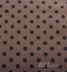 圆点 针织 印花 单面 低弹 外套 连衣裙 短裙 大衣 厚 60526-10