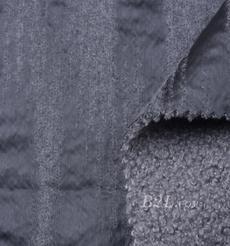 毛纺 皮革 梭织 染色 皮毛一体 竖条 厚 秋冬 大衣 棉服 90930-7