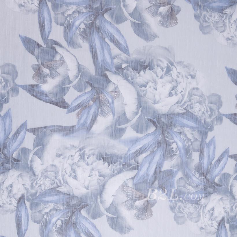 花朵 梭织 印花 无弹 薄 连衣裙 衬衫 燕窝丝 女装 春秋 期货 80104-39