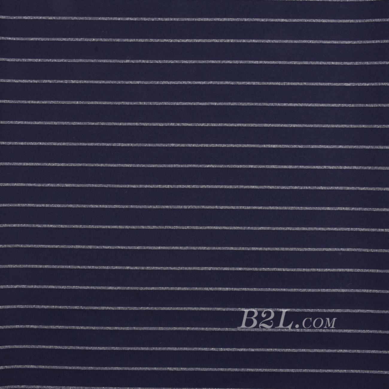 条纹 针织 横条 银丝 高弹 棉感 春秋 T恤 针织衫 连衣裙 80905-36