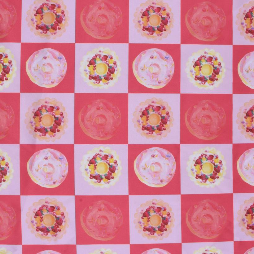 格子 期货 食物 梭织 印花 连衣裙 衬衫 短裙 薄 女装 春夏 60621-108