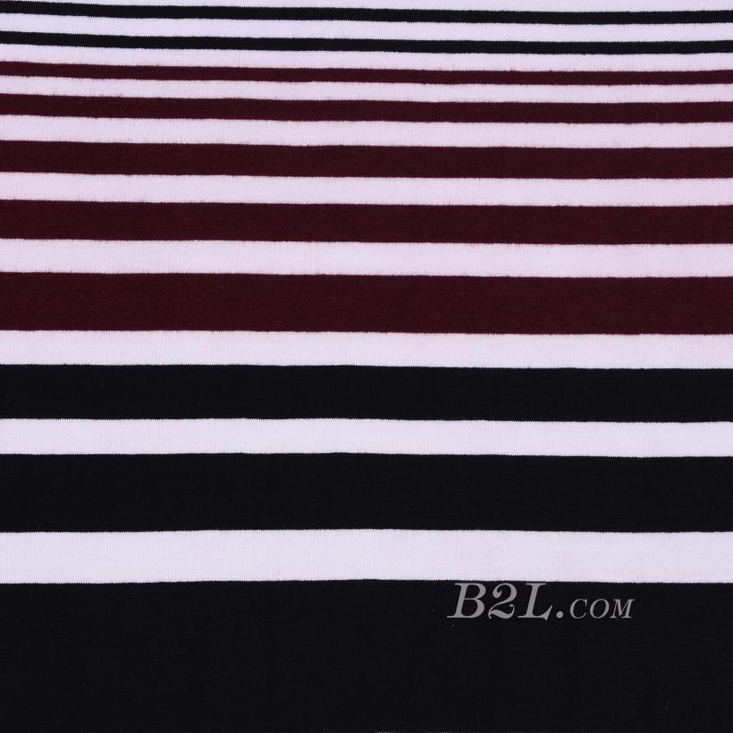 条子 横条 圆机 针织 纬编 T恤 针织衫 连衣裙 棉感 弹力 定位 期货 60312-79