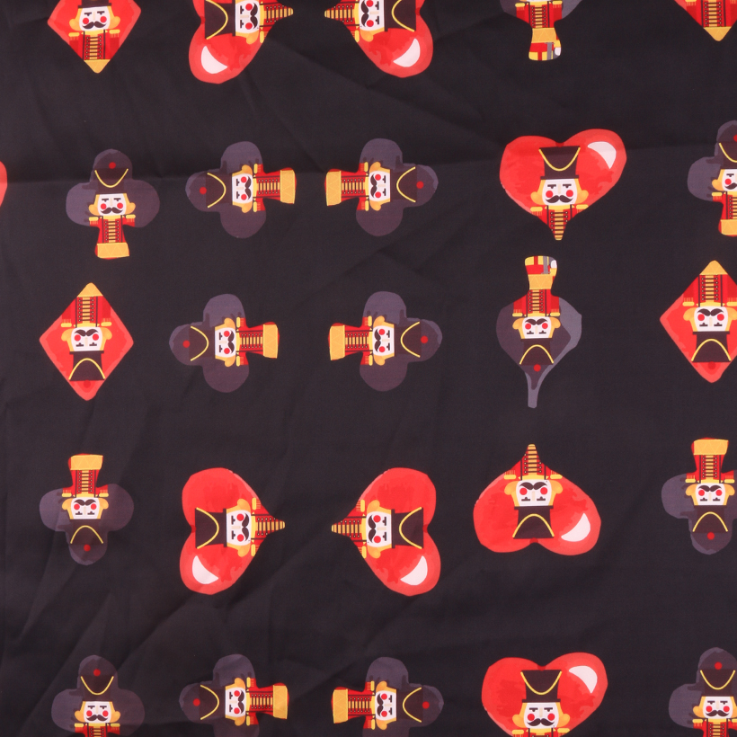 士兵 期货 扑克牌 梭织 印花 连衣裙 衬衫 短裙 薄 女装 春夏 60621-132