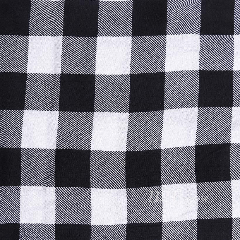 全人棉 人棉皱 格子 梭织 印花 低弹 连衣裙 衬衫 女装 春秋 71204-15