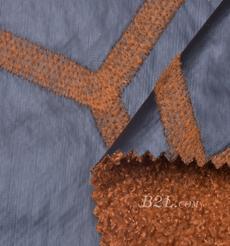 毛纺 皮革 梭织 染色 皮毛一体 几何 厚 秋冬 大衣 棉服 90930-3