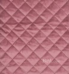 提花 梭織 染色 低彈 菱形格 春秋冬 時裝 棉衣 90309-7