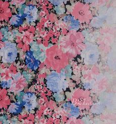 花朵 印花 全滌 柔軟 連衣裙 短裙 女裝 60421-8