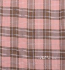 格子 涤棉 棉感 色织 平纹 外套 衬衫 上衣 70622-76