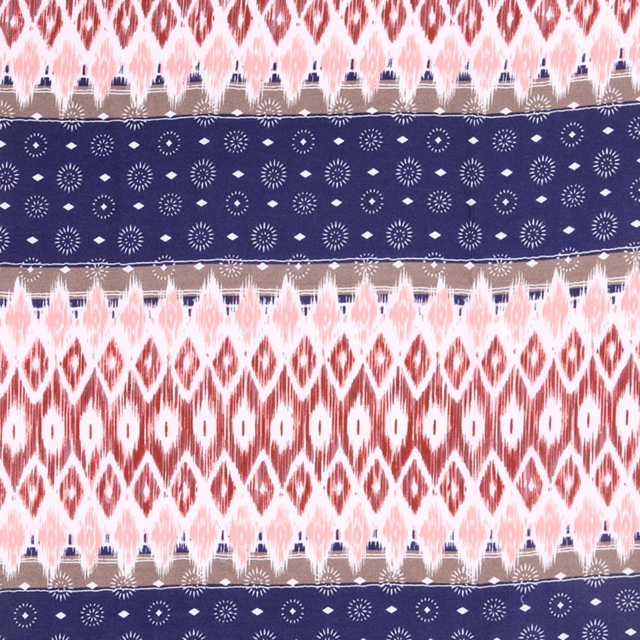 人棉期貨民族風 梭織 印花 無彈 襯衫 連衣裙 短裙 薄 棉感 70522-39