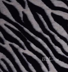 斑马纹 呢料 柔软 羊毛 大衣 外套 女装 60803-43