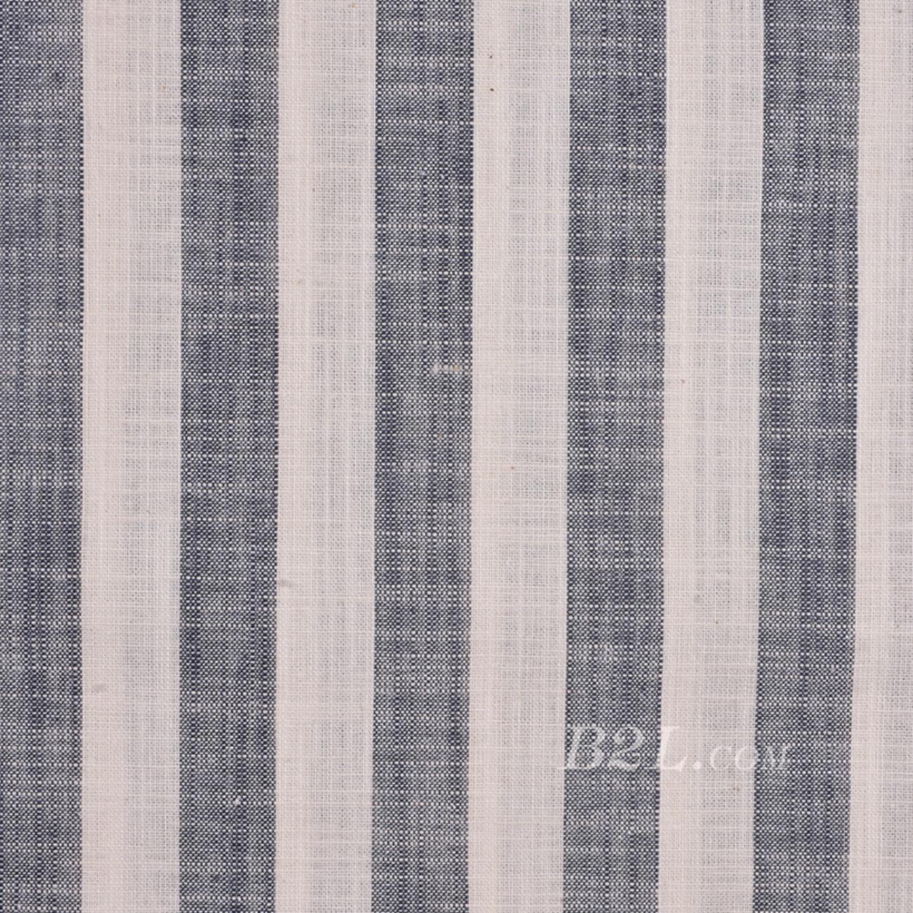 棉麻 梭織 條紋 小提花 色織 麻感 低彈 春秋 連衣裙 短裙 80912-20