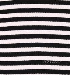 条子 横条 圆机 针织 纬编 T恤 针织衫 连衣裙 棉感 弹力 期货 60312-96