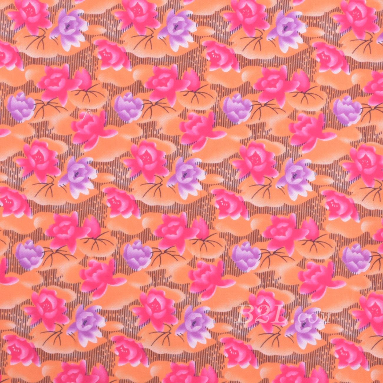 梭织染色数码印花面料-春夏连衣裙半裙时装面料90619-5