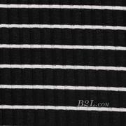 针织染色圆机弹力横条纹罗纹面料-春夏秋针织衫T恤连衣裙面料60312-57