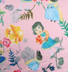 小女孩 期货 植物 梭织 印花 连衣裙 衬衫 短裙 薄 女装 春夏 60621-105