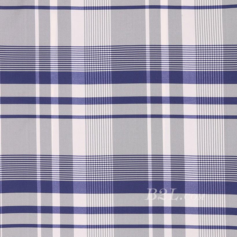 格子 涤棉 棉感 色织 平纹 外套 衬衫 上衣 薄 70622-63