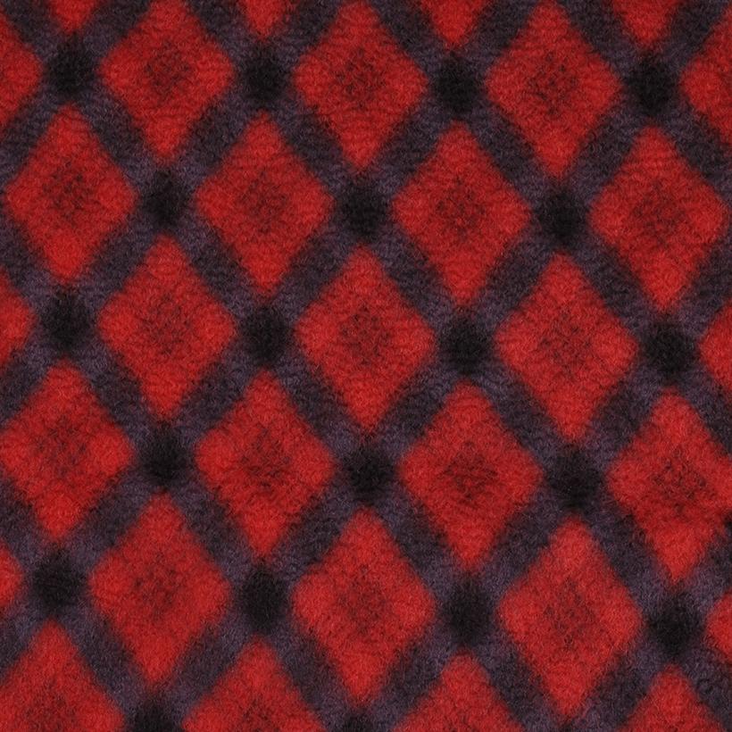 菱形 呢料 柔软 羊毛 大衣 外套 女装 70410-9