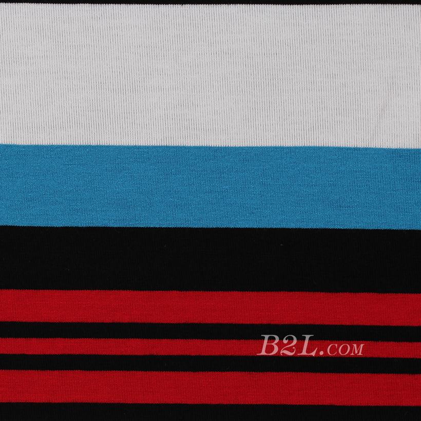 条子 横条 圆机 针织 纬编 T恤 针织衫 连衣裙 棉感 弹力 定位 60312-81