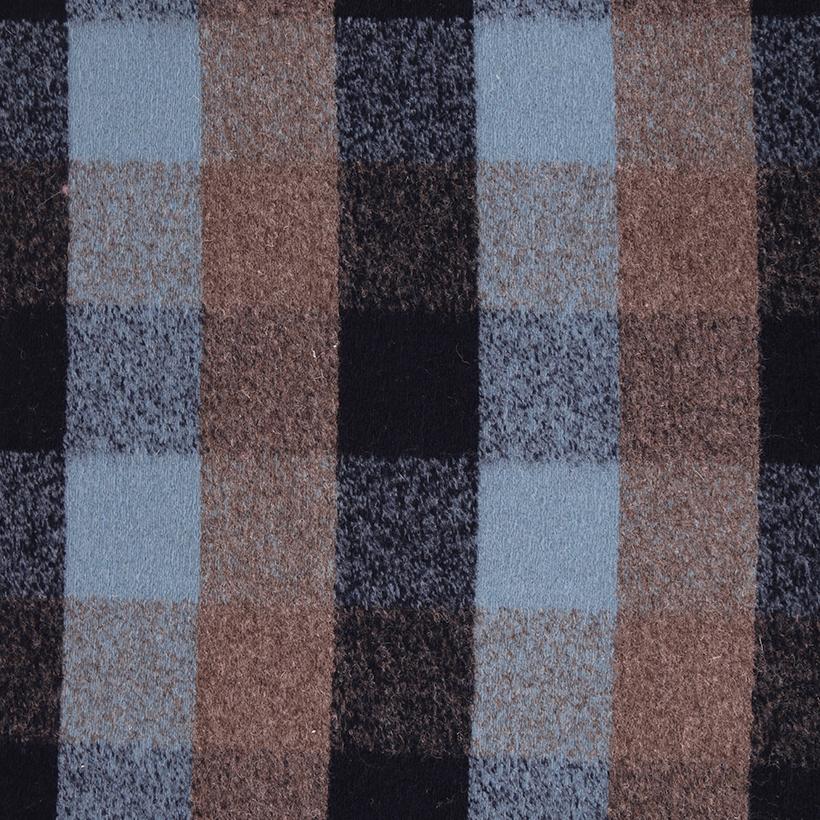 格子 呢料 柔软 羊毛 大衣 外套 女装 70315-7