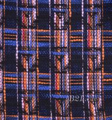 毛纺 粗纺 格子 粗花呢 提花 色织 无弹 香奈儿风  粗糙 秋冬 大衣 外套 女装 80907-5