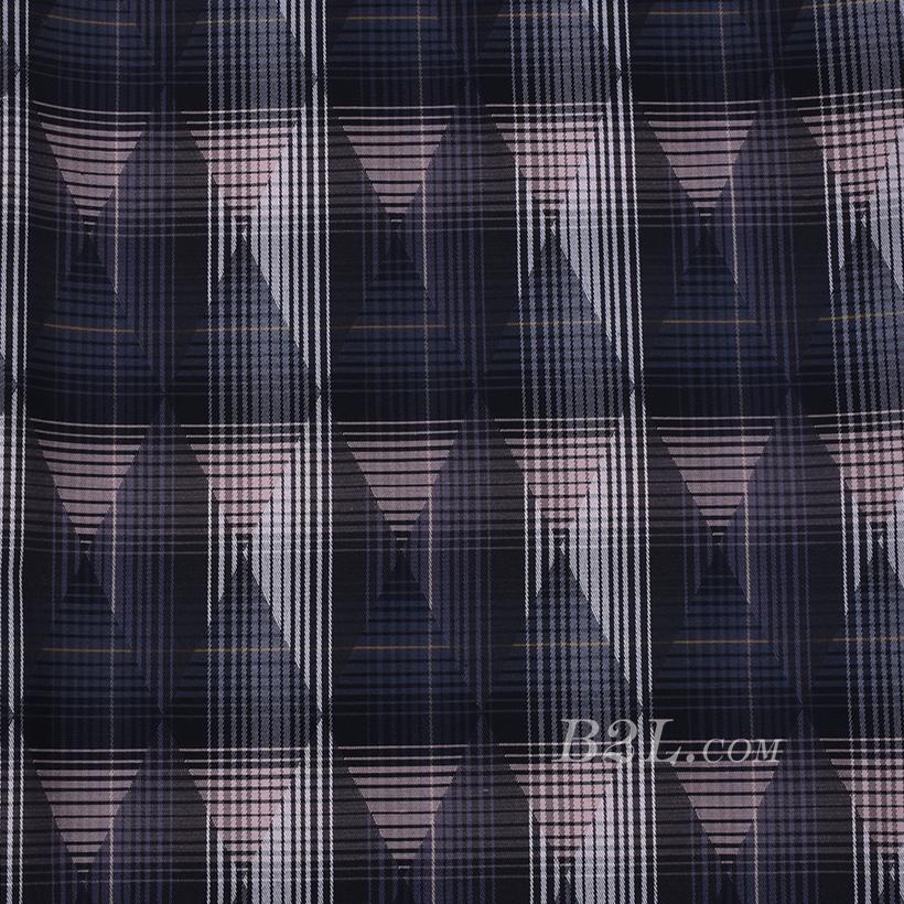 全涤 格子 菱形 无弹 色织 梭织 衬衫  女装 春秋 80102-3