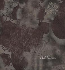 几何 棉感 定位 平纹 连衣裙 大衣 60701-10