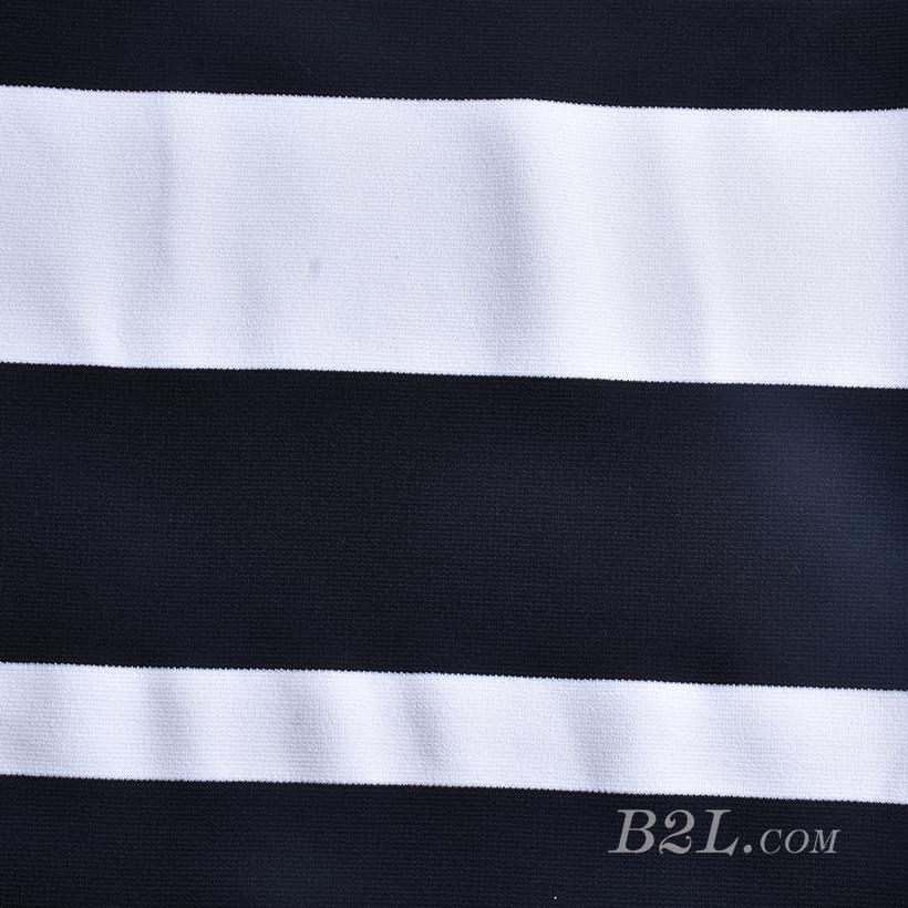 楼梯布 坑条 条子 横条 圆机 针织 纬编 T恤 针织衫 连衣裙 定位 棉感弹力 60311-6