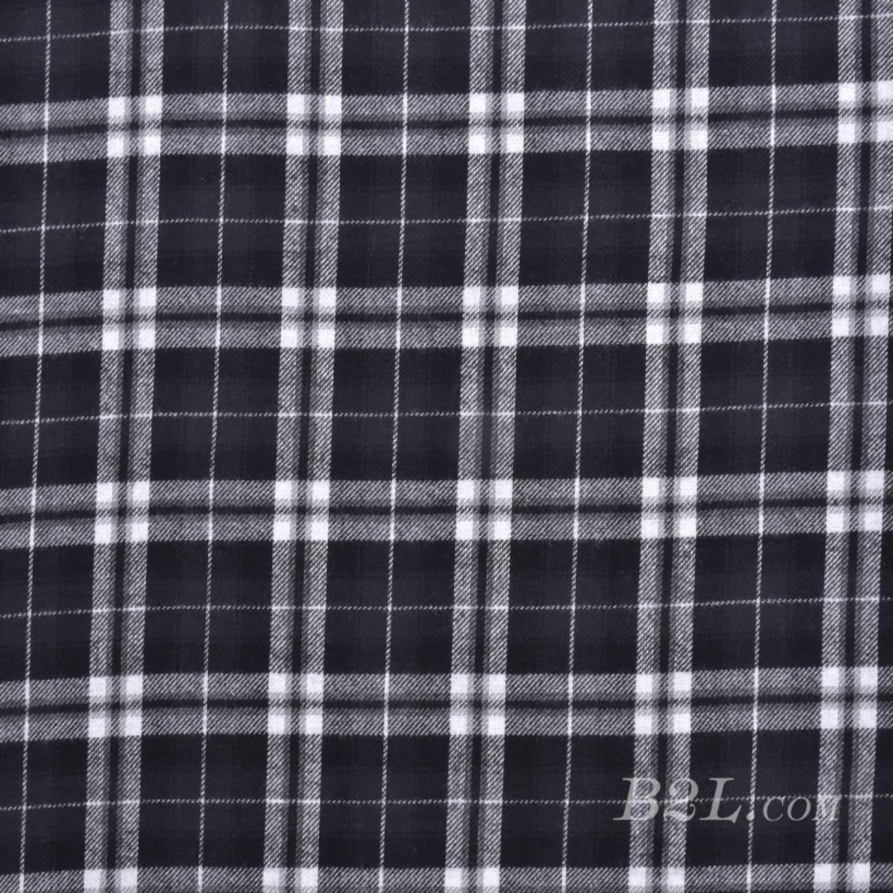 梭織染色格子毛紡面料-春秋冬大衣外套半身裙連衣裙面料S1523