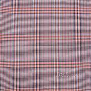 格子 梭织 色织 PU复合 低弹 春秋 大衣 外套 女装 80714-12